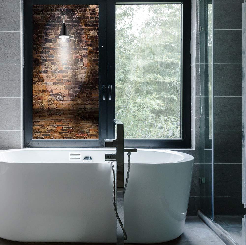 Amazon Com Yoliyana Stained Glass Window Film Rustic Home Decor