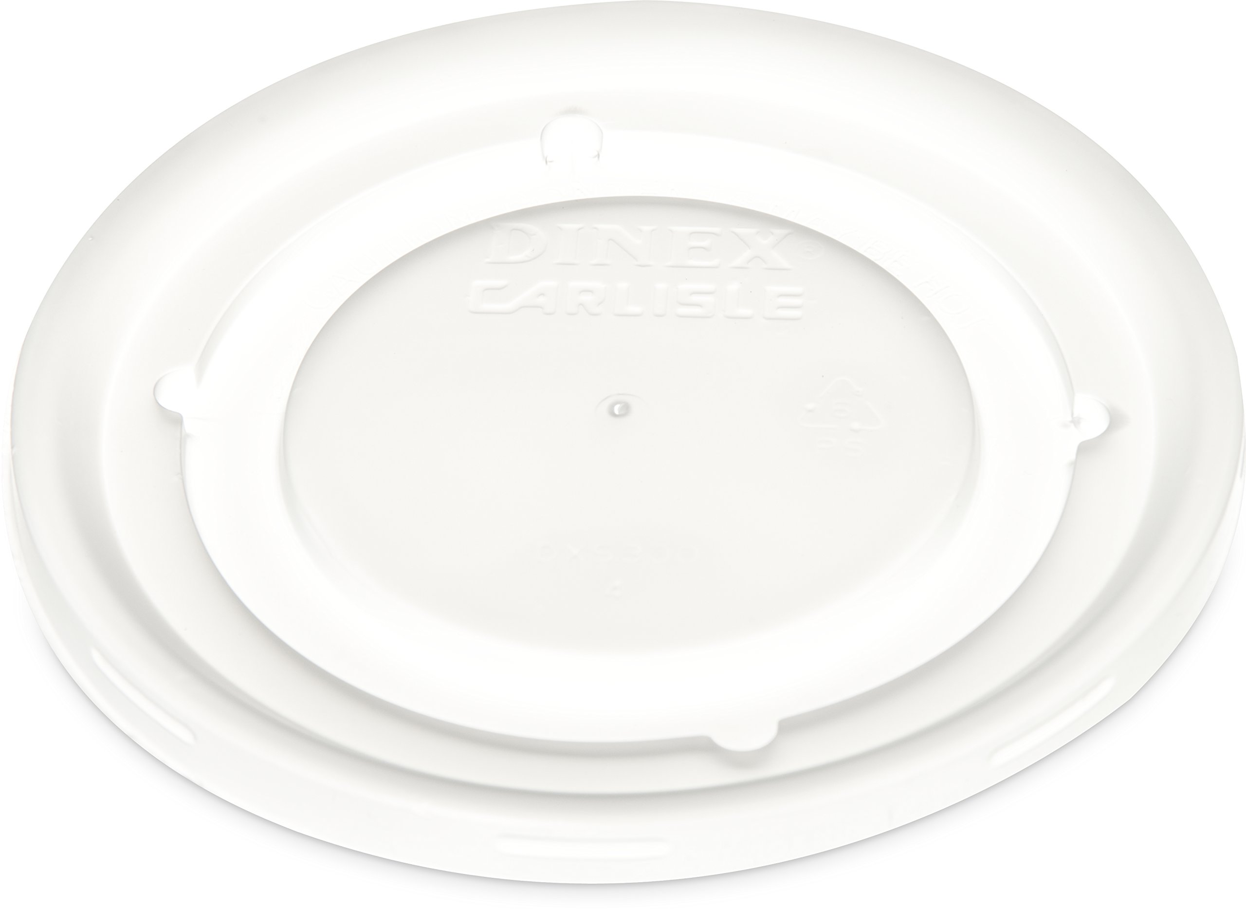 Dinex DX53008714 Polystyrene Disposable Lid, Translucent, 4-1/2'' Diameter, For Fenwick 9oz Insulated Bowl (Case of 1000)