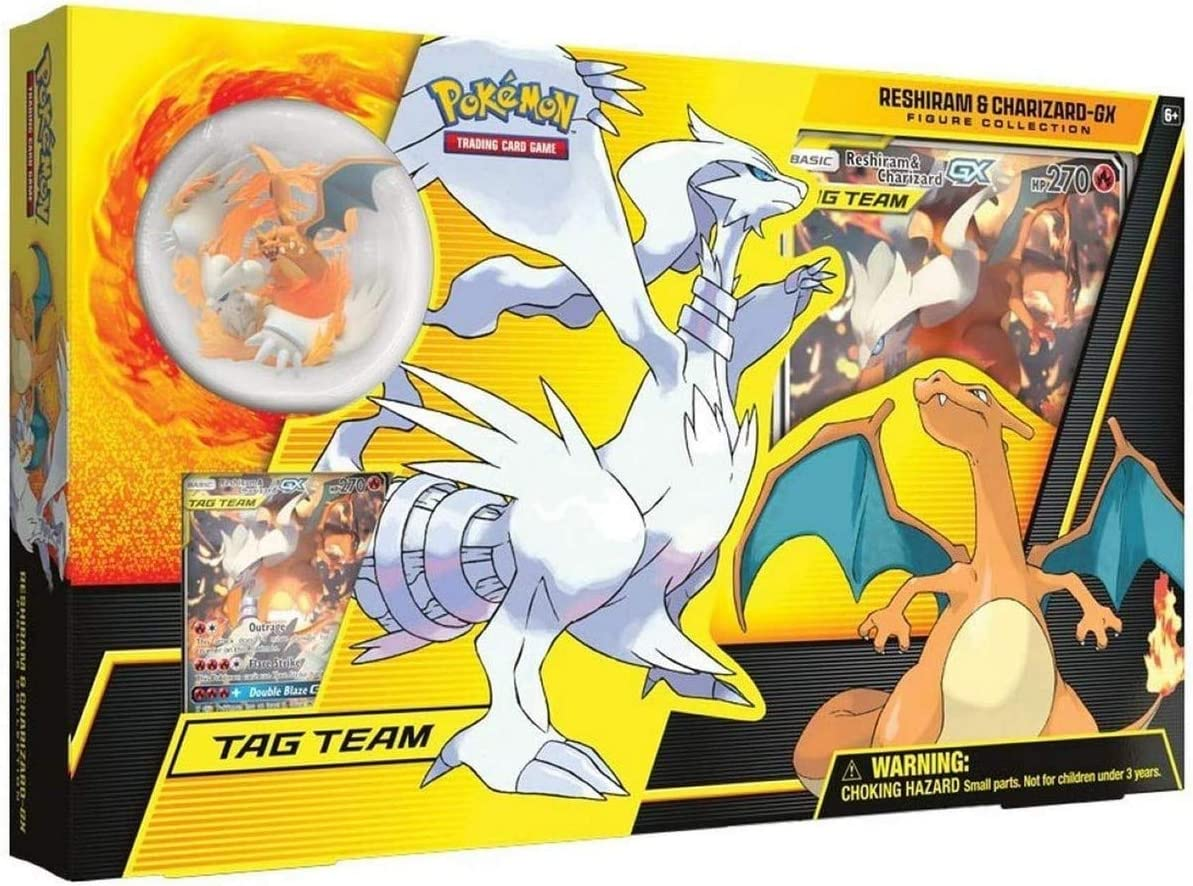 Pokemon RESHIRAM /& CHARIZARD GX Figure Collection Sealed Packs No Box