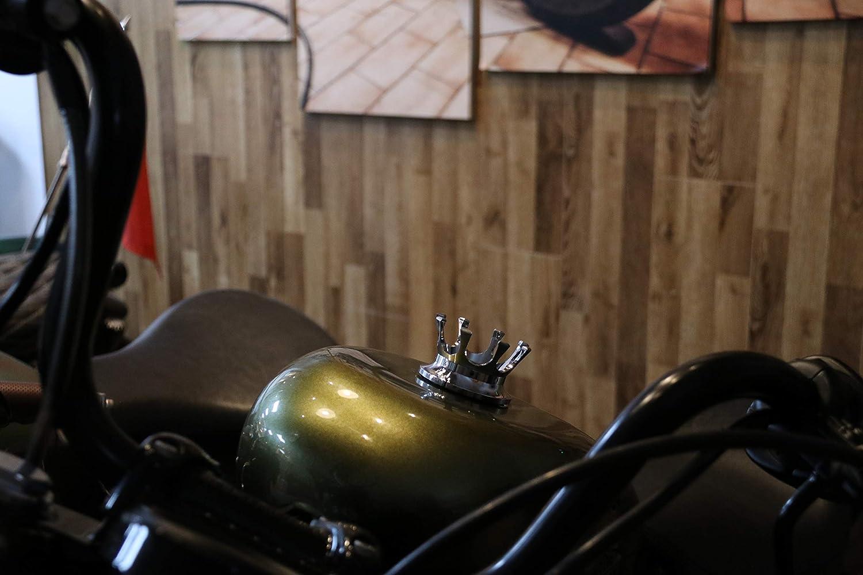 black Bouchon de r/éservoir de carburant de style de la Couronne CNC Style bouchon de r/éservoir de carburant dhuile pour Harley Sportster 883 1200 Road King Softail Dyna FXST