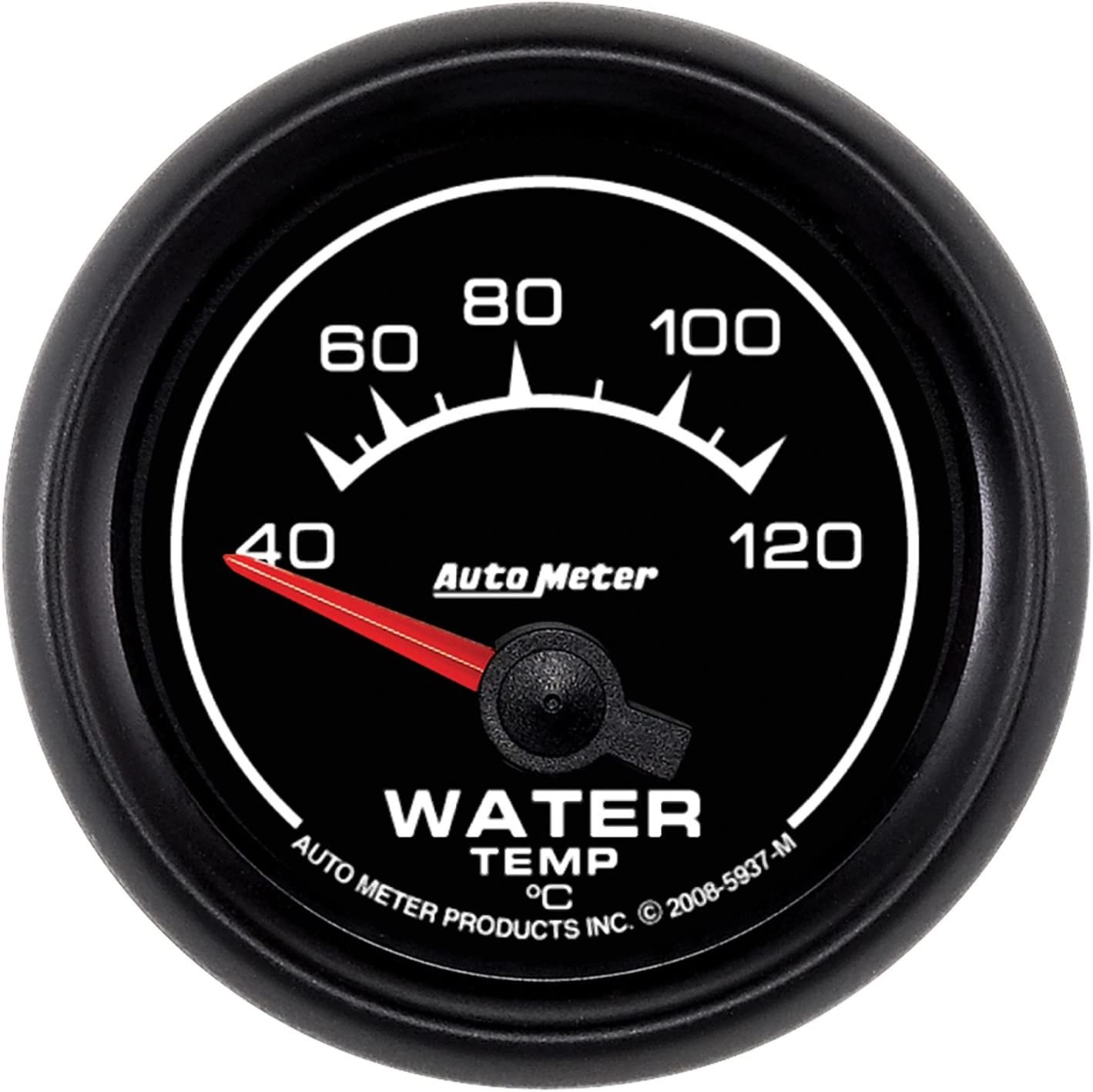 Auto Meter 5937 ES 2-1//16 100-250 F Short Sweep Electric Water Temperature Gauge