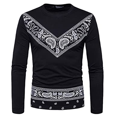 a777ed6e Boomboom Men Shirts, 2018 Newest Men Casual African Style T-Shirt Blouse (S