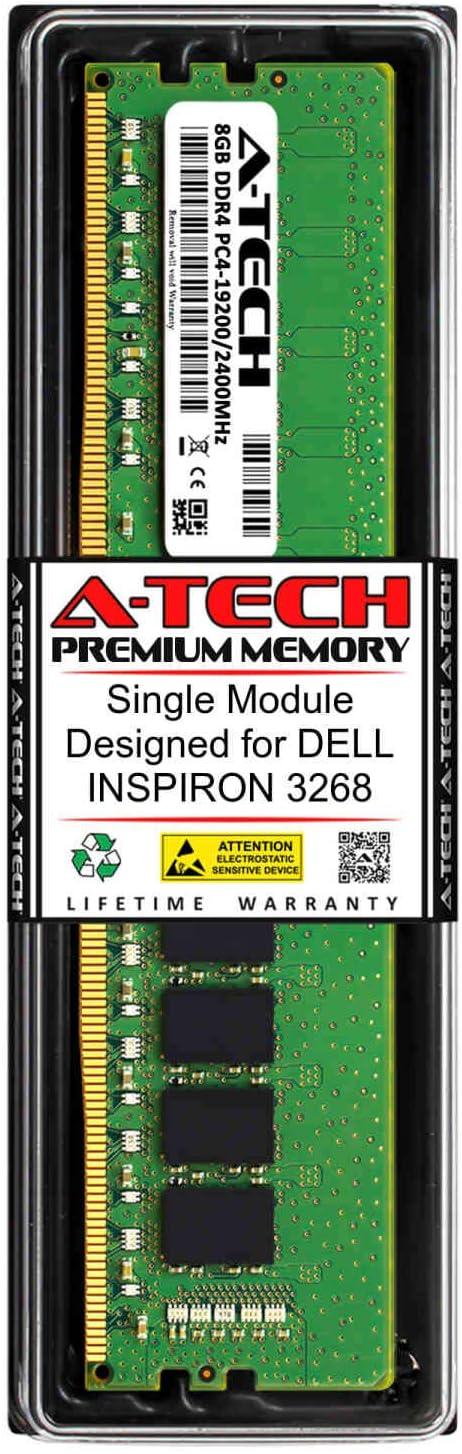A-Tech 8GB RAM for DELL INSPIRON 3268 | DDR4 2400MHz DIMM PC4-19200 288-Pin Non-ECC UDIMM Memory Upgrade Module