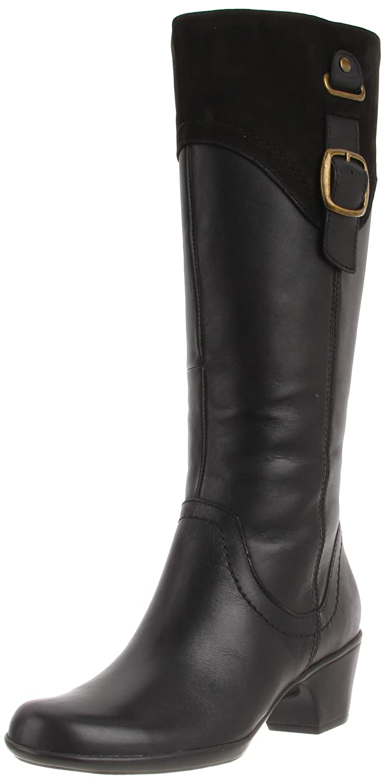 Amazon.com | Clarks Women's Ingalls Delaware Boot, Black, 5.5 M US |  Knee-High