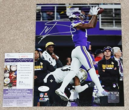 b384ec308 Image Unavailable. Image not available for. Color  Stefon Diggs Autographed  Signed Minnesota Miracle Vikings 8x10 Photo Memorabilia JSA COA V45672