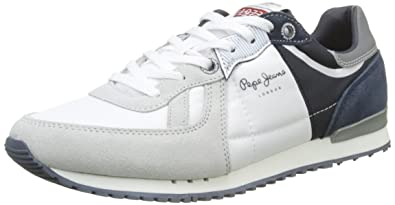 London Tinker 1973, Sneakers Basses Homme, Blanc (White), 45 EUPepe Jeans London
