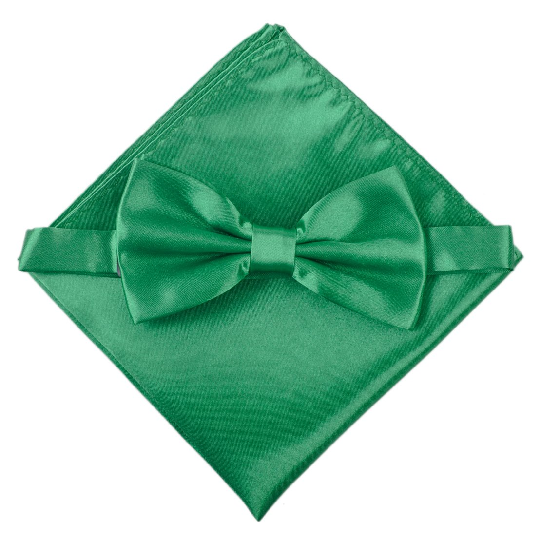 Men/'s Solid Bowtie Necktie Pocket Square Set Business Wedding Party ciciTree