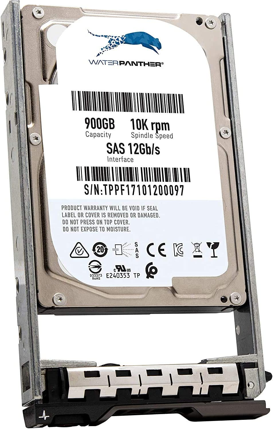 "900GB 10K SAS 12Gb/s 2.5"" HDD for Dell PowerEdge Servers 