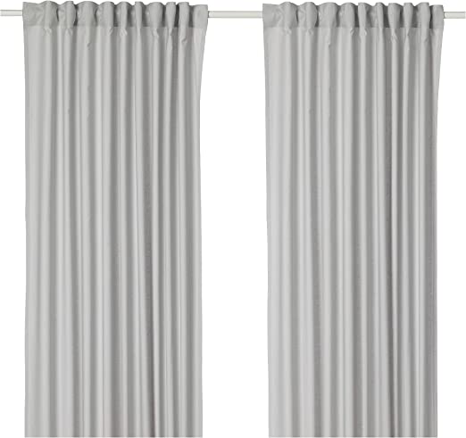 IKEA ASIA ANNALOUISA - Cortinas (1 par), Color Gris Claro: Amazon ...