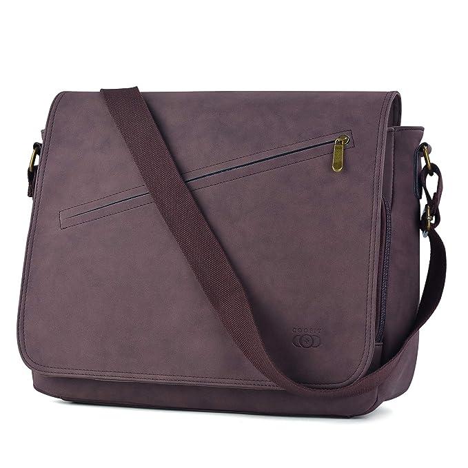 Amazon.com   Messenger Bag, COOFIT Satchel Bags cross-body Bags Shoulder  Laptop Bags Bookbag Abrasive Pu   Messenger Bags 4d28cc2533