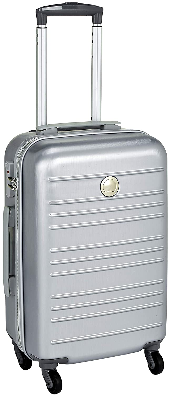 Delsey ABS 55 cms Silver Hardsided Cabin Luggage (00344580121)
