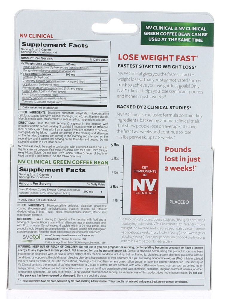 Amazon Com Nv Clinical Hollywood Diet Weight Loss 28 Caplets 12