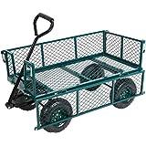 Karmas Product Large Utility Wagon Cart Heavy Duty Outdoor Folding Garden Carts,Load Capacity(550 Lb),Green