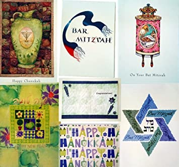 Amazon 50 assorted jewish holiday greeting cards hanukkah 50 assorted jewish holiday greeting cards hanukkah chanukah bar bat mitzvah new year rosh hashanah with m4hsunfo