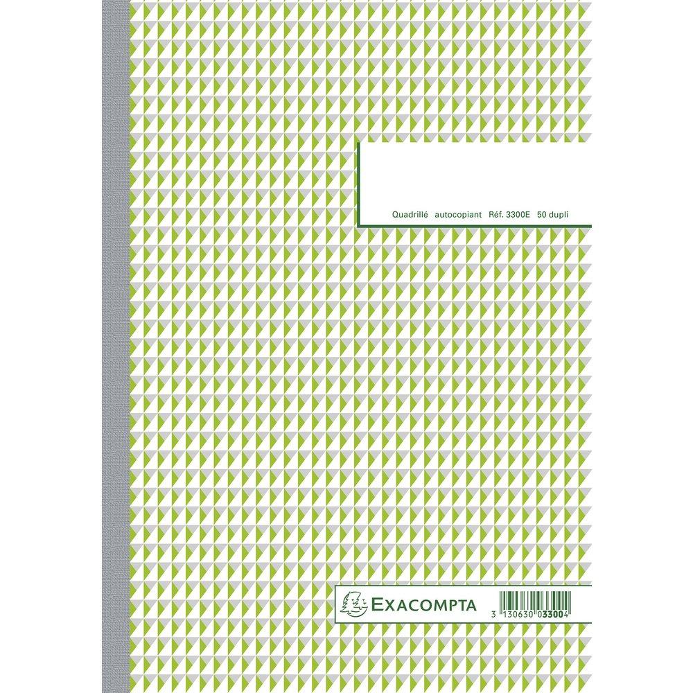 Blocchi a quadretti 5x 529, 7x 21cm 50fogli autocopianti Exacompta 3300E
