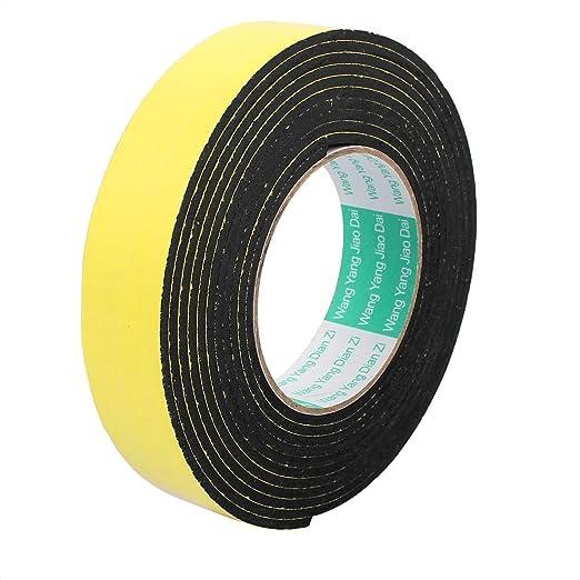 sourcingmap® 30 mm Ancho de un lado para auto-adhesivo a prueba de golpes Esponja cinta de espuma 4 metros longitud: Amazon.es: Industria, ...