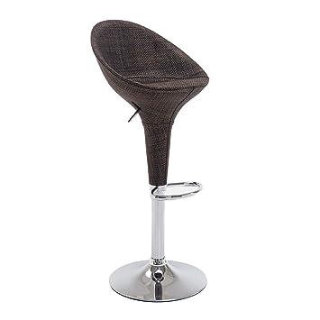 Homcom Tabouret de Bar Design Contemporain pivotant Dossier Repose-Pied  Assise Hauteur réglable Marron Base 3f91cd5c90cc
