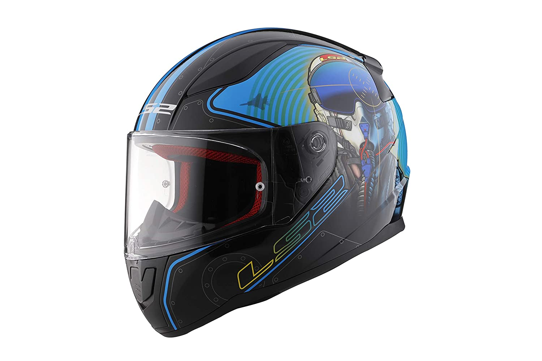 ,1 Pack Matte Black,Large LS2 Helmets Rapid Crypt Graphic unisex-adult full-face-helmet-style Full Face Helmet