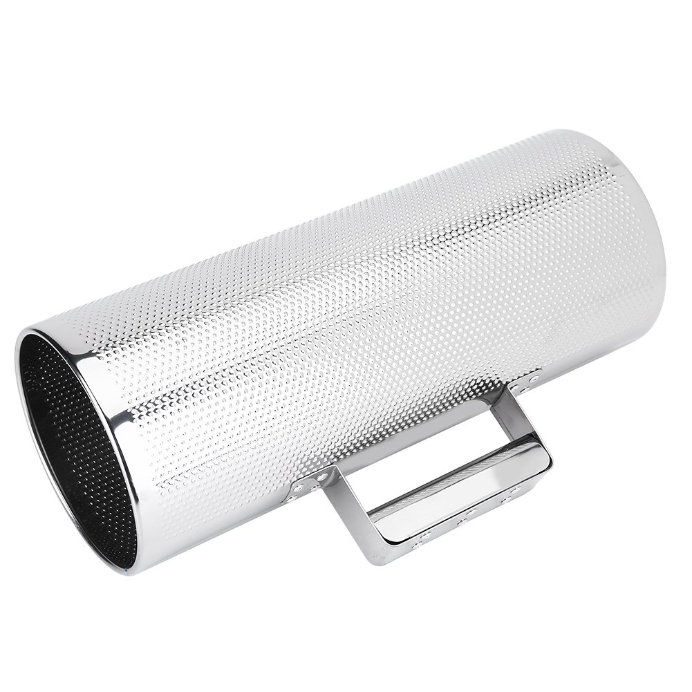 Guiro Instrument, 512.8'' Professional Stainless Steel Guiro Percussion Instrument Metal Guiro with Scraper