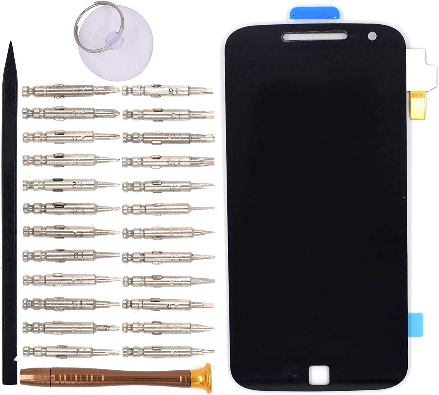 LCD Screen Display with Digitizer Touch Panel Without Bezel Frame for Motorola Moto G4 Plus Moto G Plus 4th Gen XT1641 XT1644(Black)