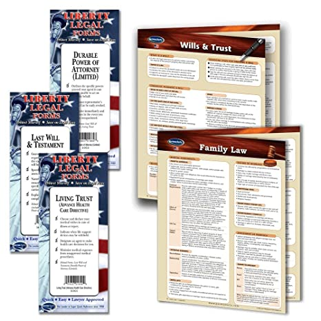 Amazoncom Family Law Legal Planning Kit Legal Forms Last Will - Law legal forms