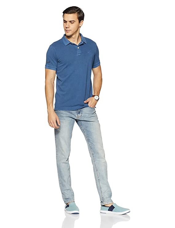 SUPERDRY Mens Vintage Destroy Short Sleeve Pique Polo Shirt ...
