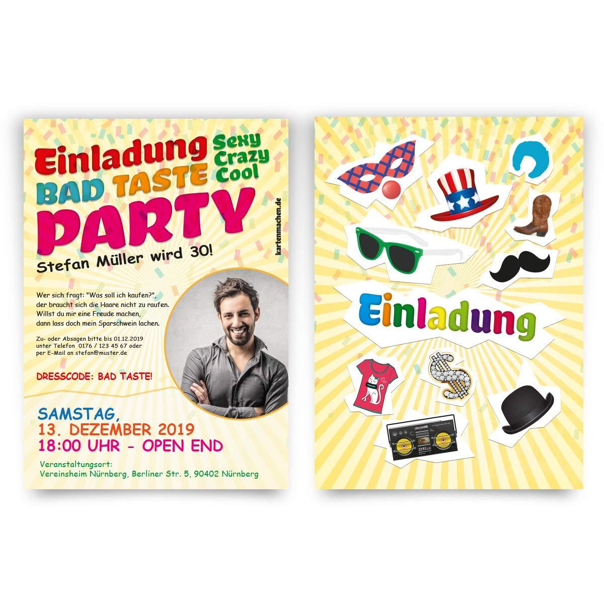 60 60 60 x Geburtstag Einladungskarten individuelle Einladungen - Bad Taste Party mit eigenem Foto B07N1R849J | Wunderbar  | Hohe Sicherheit  | Günstige  ebbb71