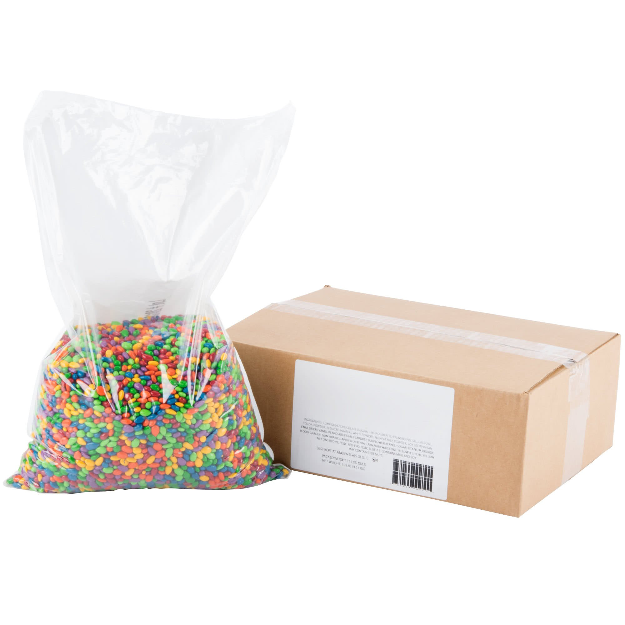 Chocolate Covered Sunflower Seed Candy Gems Topping - 10 lb. By TableTop King