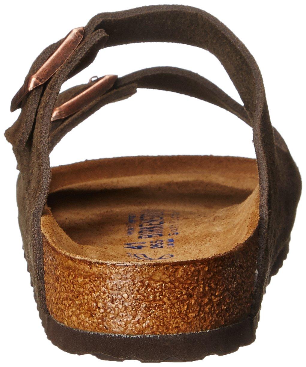 Birkenstock Unisex Arizona Mocha Suede Sandals - 35 N EU / 4-4.5 2A(N) US by Birkenstock (Image #2)