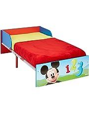 Disney Hello Home Cama Infantil con diseño de Mickey Mouse, Madera, Azul, 42.50x77.00x143.00 cm