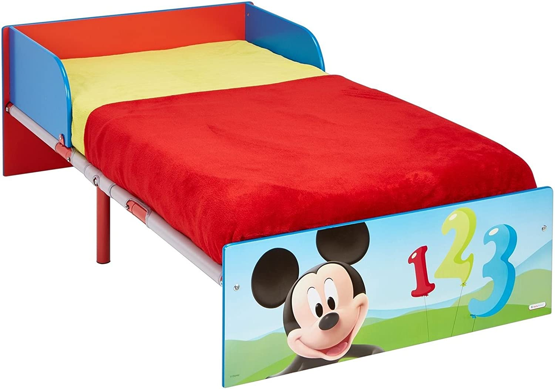 Disney Mickey Mouse Bett f/ür Kleinkinder Holz blau 143 x 77 x 42.5 cm