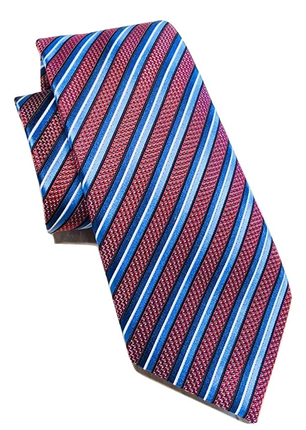e8d921fd New 2019 Ermenegildo Zegna Red Stripe Silk Tie at Amazon Men's ...