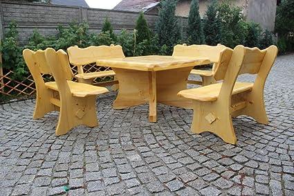 Muebles de Jardín Madera maciza - Asiento Grupo Jardín Mesa Cuadrado ...