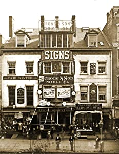 """1870 Strong & Sons Roof Signs, New York Vintage Photograph 8.5"""" x 11"""" Reprint"""