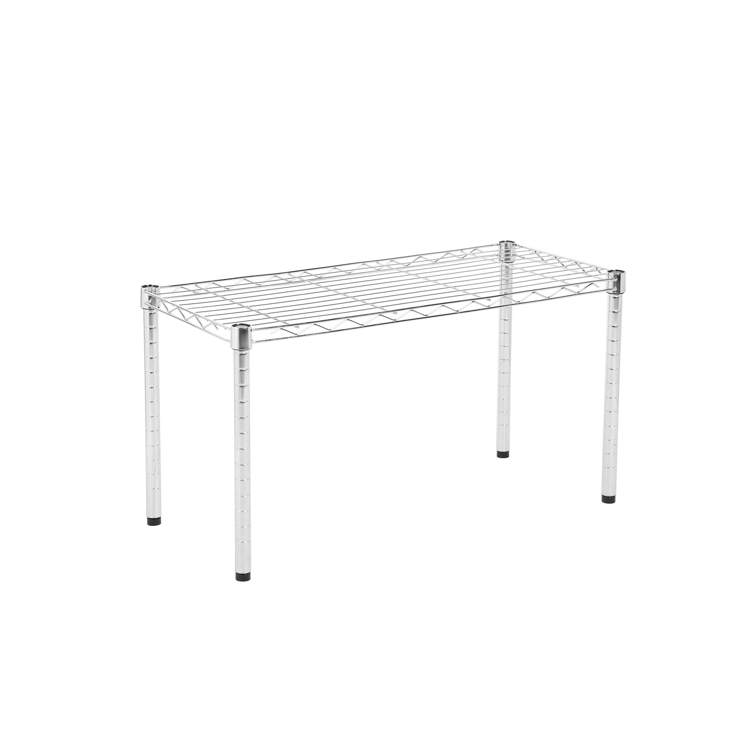 Honey-Can-Do SHF-01505 Stackable Metal Urban Shelving Side Table, Chrome,14 x 30