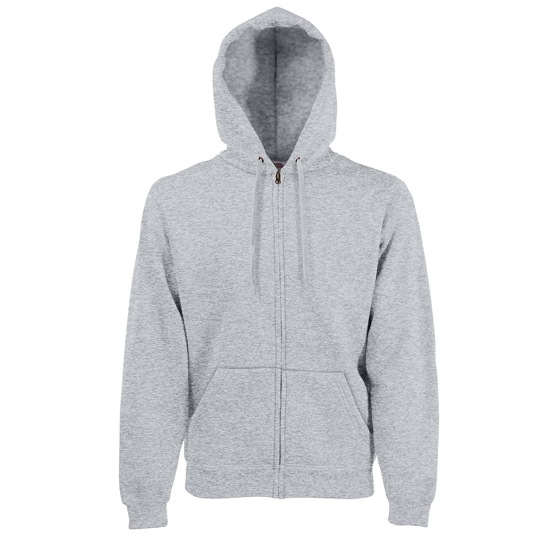 Fruit of the Loom Premium Zip Hooded Sweatshirt Hoodie Mens 70//30 Zip-Up
