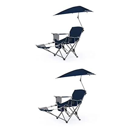 Outstanding Sport Brella Umbrella Recliner Folding Chair Blue 2 Pack Gmtry Best Dining Table And Chair Ideas Images Gmtryco