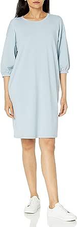 Marca Amazon - Estelle Puff Sleeve Sweatshirt Mini Dress - Sudadera - dresses Mujer por The Drop