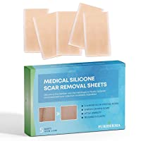 Puriderma Medical Silicone Scar Removal Sheets [Set of 5] - Fast & Effective on...