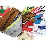 Zipperstop Wholesale YKK 60cm Purse Zippers Extra Long Handbag Pull Assorted Colours 19 Piece Pack YKK 4.5 Handbag…