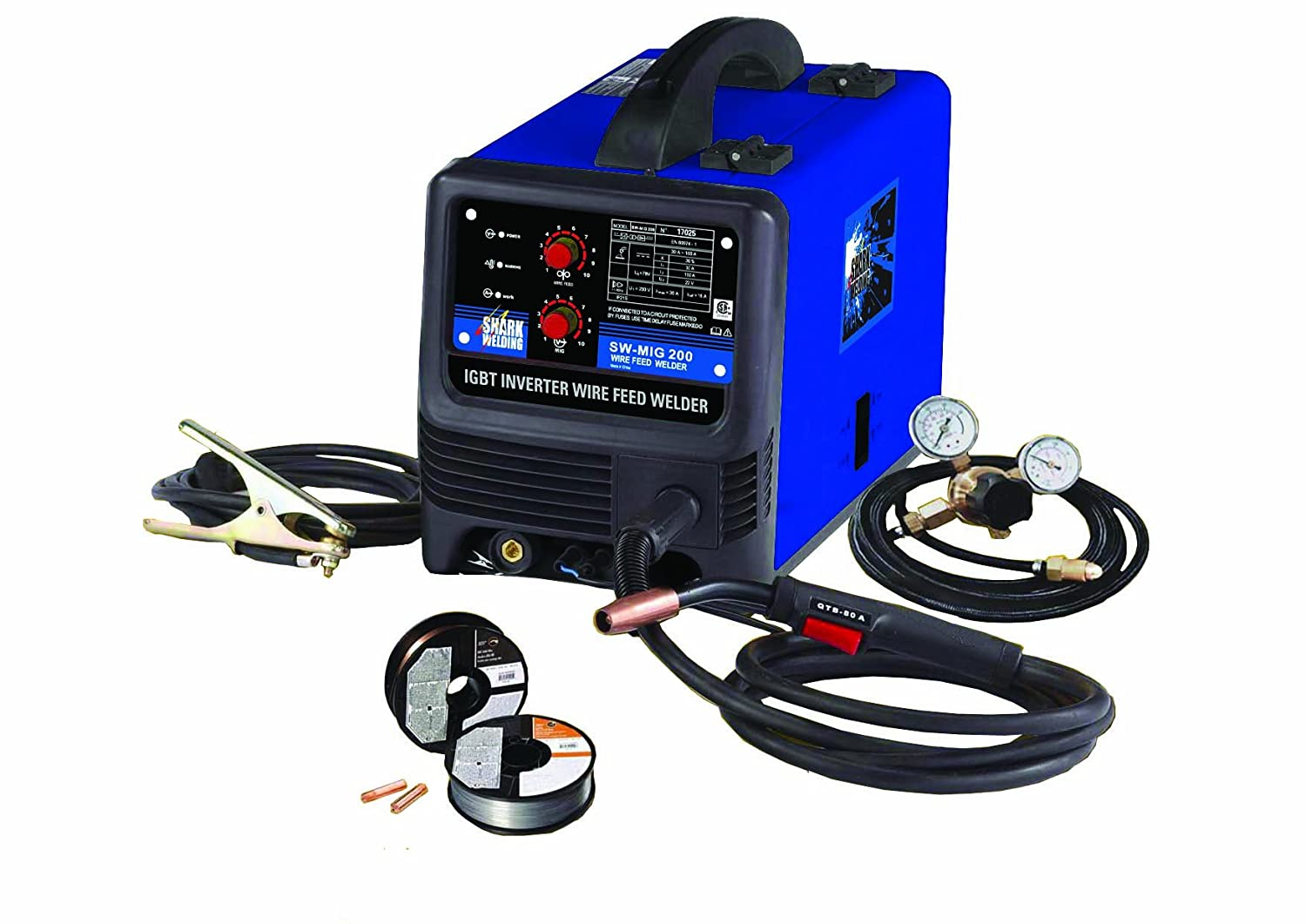 71EO3EzVi3L._SL1500_ shark welding 17025 sw mig 200 welder power welders amazon com 90 Amp Mig Welder at bakdesigns.co
