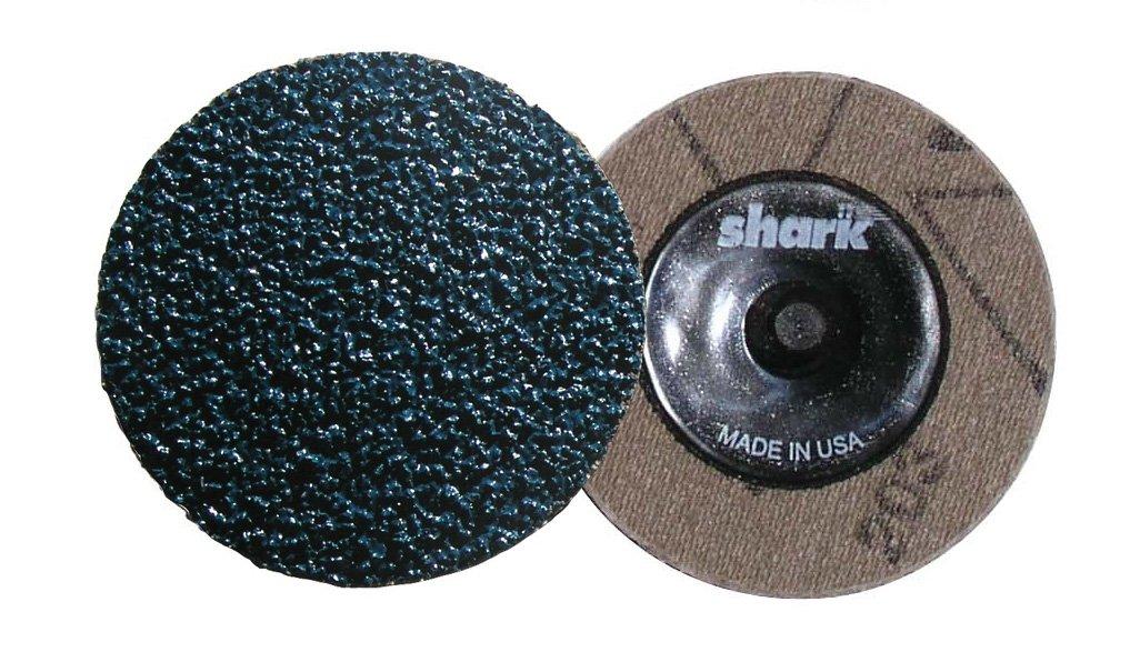 Grit-80 Shark Shark 44223 2-Inch Cloth Backed Zirconia Grinding Discs Pack-25