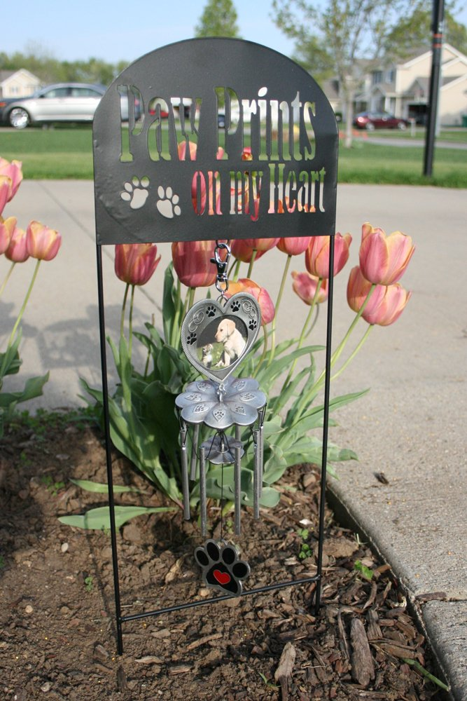 Delightful Amazon.com : Pet Memorial Garden Stake   Pet Memorial Wind Chimes   Paw  Prints On My Heart   Dog Memorial Gift   Cat Memorial Gift   Pet Sympathy  Gifts ...