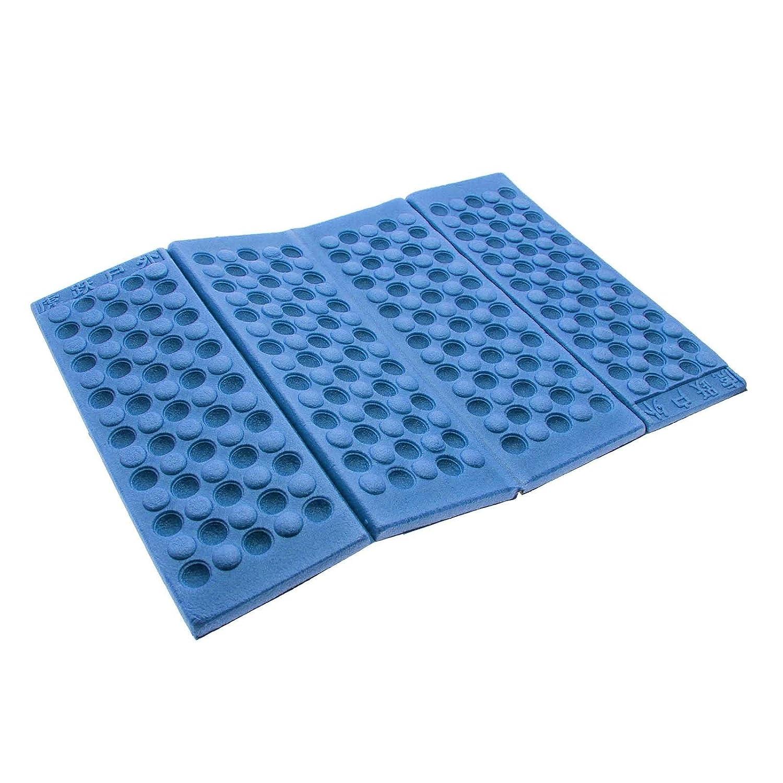 GGG 折り畳み式防水椅子のクッションシートパッド モイスチャーシートクッションXPEマットパッド ガーデンキャンプピクニック旅行Z-シート - カラー:ブルー B017IPI0XS