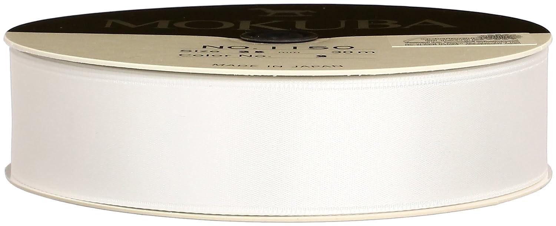 木馬 片面サテンリボン 1150 25mm×30m巻 col.2 白 B002MKP1I2 25mm×30m巻 白 白 25mm×30m巻