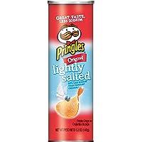 Pringles Potato Crisps Chips, Lightly Salted, Original Flavored, 5.2 oz Can