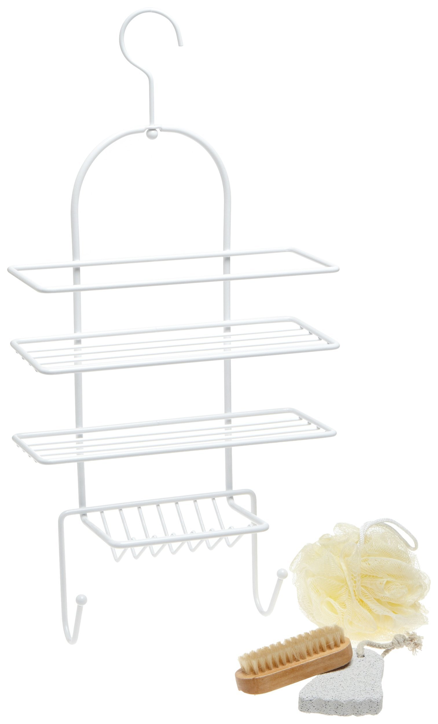 Taymor Petite White Shower Caddy Spa Gift Set
