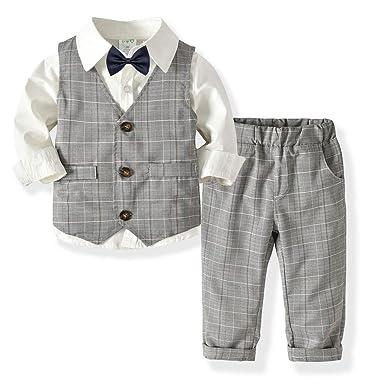 3ccfba521f8 Amazon.com  Little Boys Gentleman Formal Suit Set with Vest