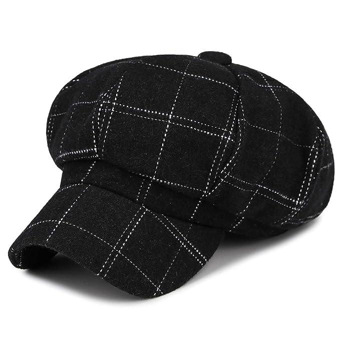 buy sale classic style low price sale Zesoma Plaid Octagonal Hat Women Vintage Fashion Baseball ...