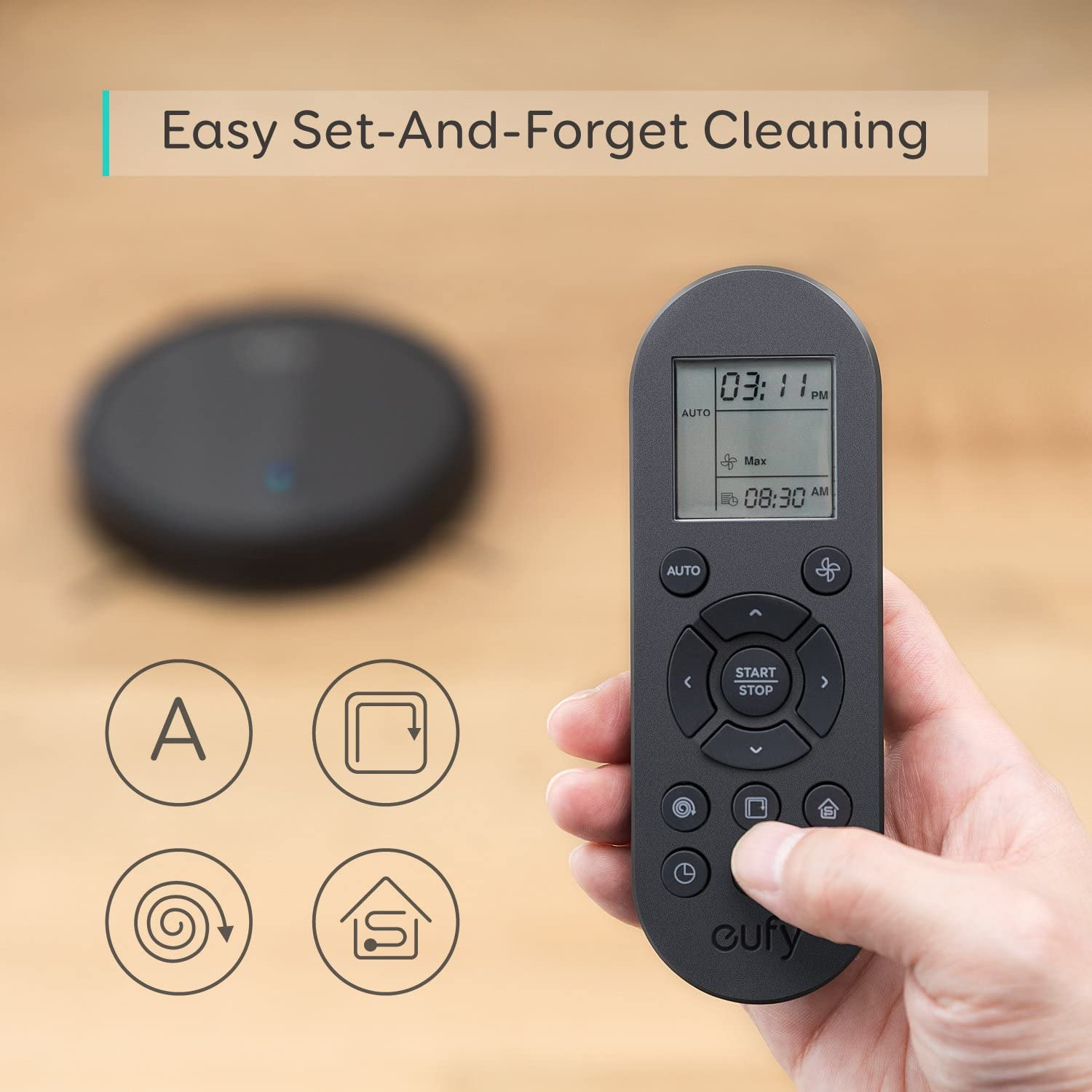 eufy by Anker, BoostIQ RoboVac 11S (Slim), Robot Vacuum Cleaner, Super-Thin, 1300Pa Strong Suction, Quiet, Self-Charging Robotic Vacuum Cleaner, Cleans Hard Floors to Medium-Pile Carpets -